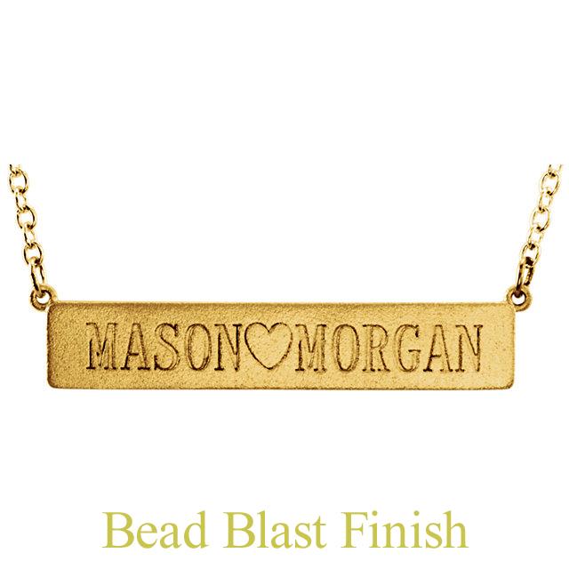 posh bar necklace