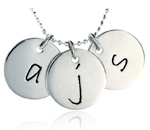 Large Silver Initial Discs