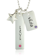 Silver Birthstone Mini Tags