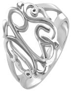 Monogram Ring Silver