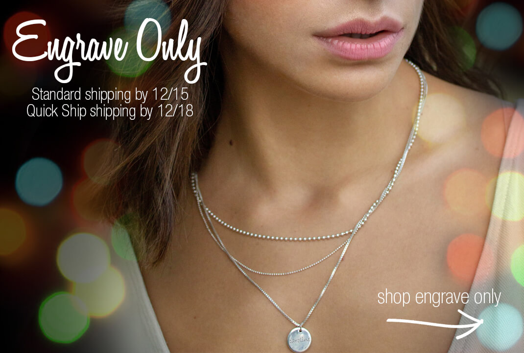 Quick Ship Engrave Only Mommy Jewelry