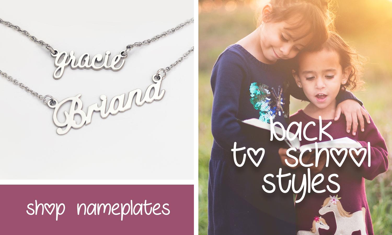 Shop Name Necklaces