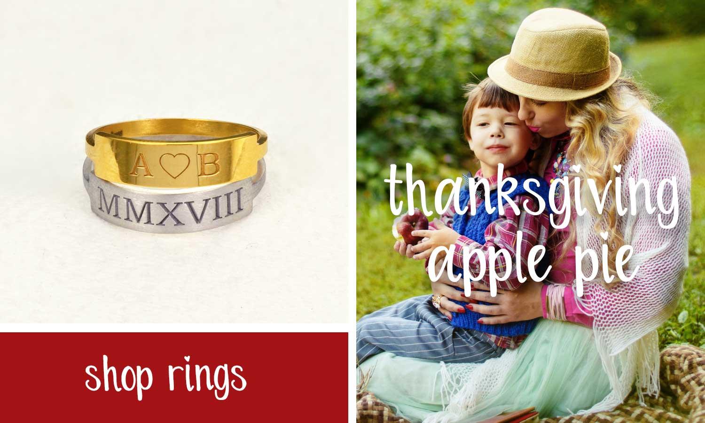Stacking Rings - Monogram Ring