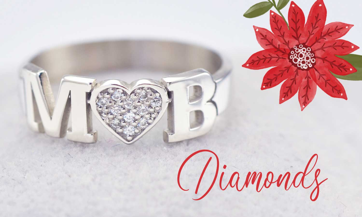 Two Initial Love Ring