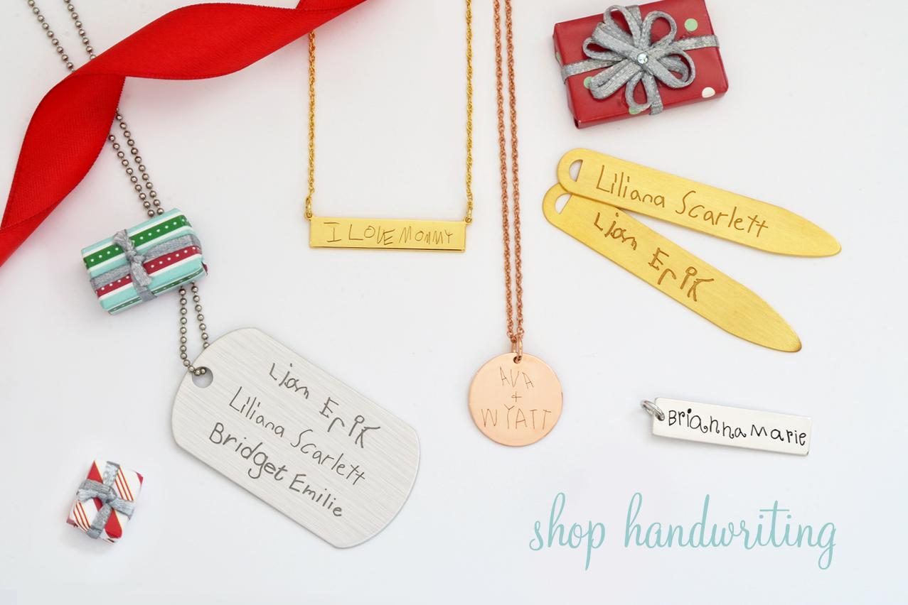 Handwriting Necklaces