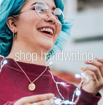 handwriting jewelry