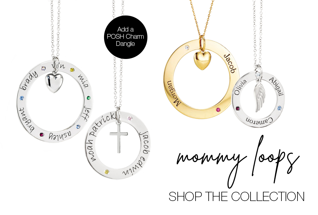 Mommy Loop Necklaces / Open Circle Necklaces