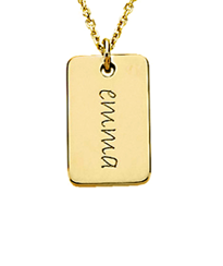 gold mini dog tags