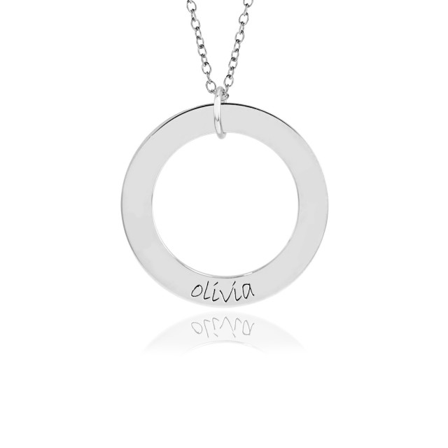 Gold One Name WEE Loop Mommy necklace Personalized Jewelry