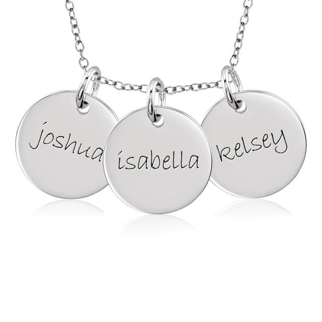 Three Discs Necklace Personalized Jewelry