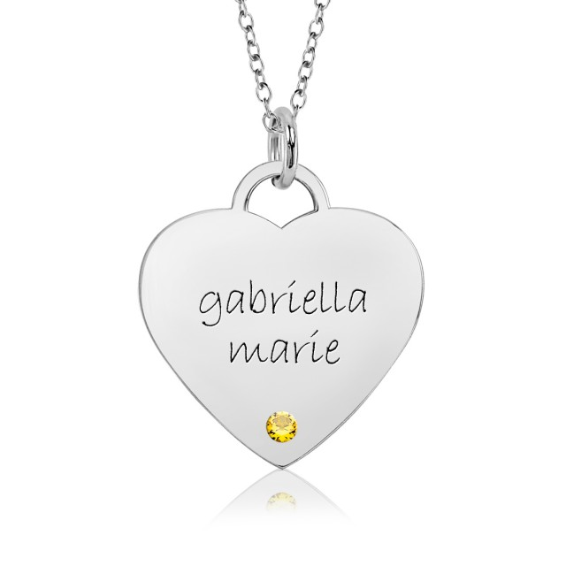 Eternal Heart Birthstone Mommy Necklace