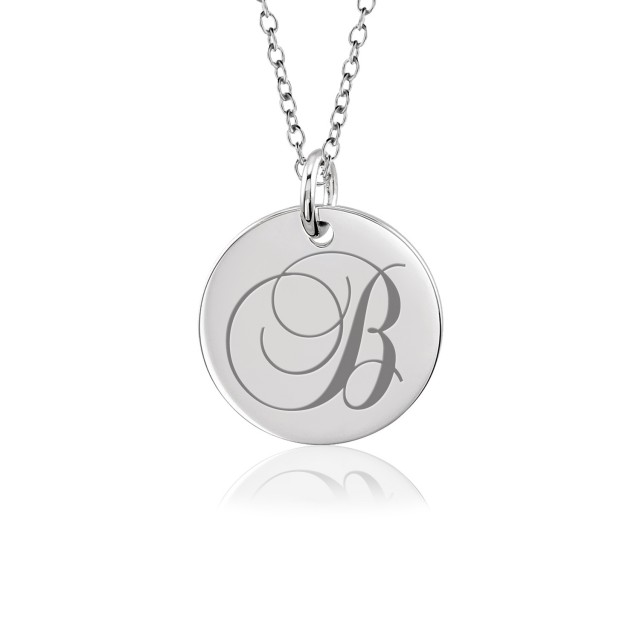 Tayler Initial Disc Mommy Necklace Personalized Jewelry