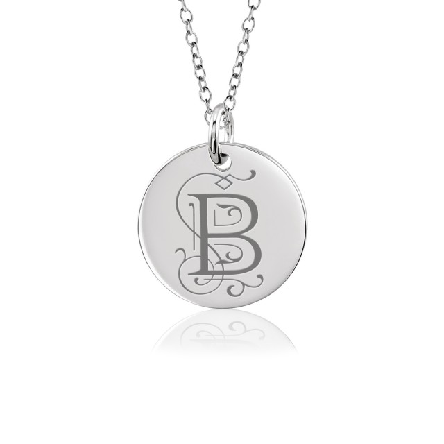 Vintage Initial Disc Mommy Necklace Personalized Jewelry