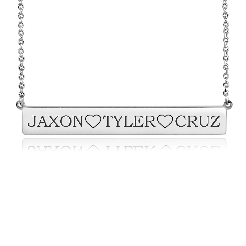 xl posh bar necklace