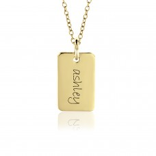 Vermeil Mini Dog Tag Mommy Necklace Personalized Jewelry