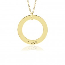 One Name Vermeil WEE Loop Mommy Necklace Personalized Jewelry