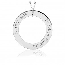 White Gold Two Name POSH Loop Mommy Necklace Personalized Jewelry