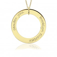 Two Names POSH Vermeil Loop Mommy Necklace Personalized Jewelry