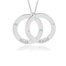 Gold Birthstone Wee Loop necklace