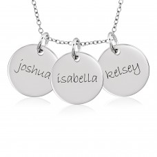 Three Discs Necklace Personalized Jewelry