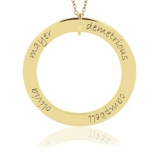 Four Name Forever Vermeil Loop Mommy Necklace