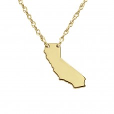 Yellow POSH State Necklace