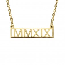 2019 Graduation Year Roman Numeral Necklace
