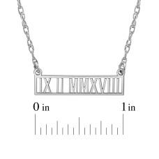 Roman Date Bar Necklace