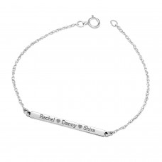 White Brooklyn Bar Bracelet