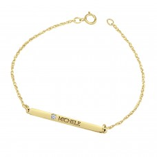 Yellow Diamond Brooklyn Bar Bracelet Personalized Jewelry