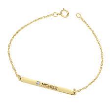 Yellow Diamond Brooklyn Bar Bracelet Personalized Jewelry