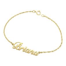 Yellow Briana Nameplate Bracelet