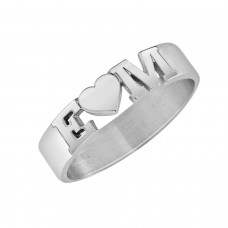 White Initial LOVE Ring