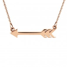 Rose tiny POSH Arrow Necklace