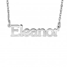 White Tanner Name Necklace Personalized Jewelry
