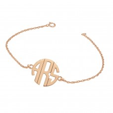 Rose POSH Block Monogram Bracelet