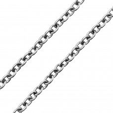Close up of Adjustable Cable Chain Necklace