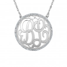 Gold Diamond Loop Monogram