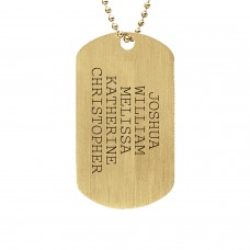 Yellow Gold Plated Daddy Dog Tag Personalized Mens Jewelry