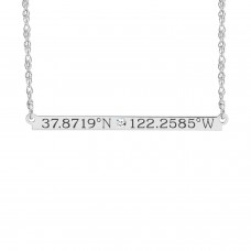 Diamond Coordinates Brooklyn Bar Necklace