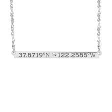 Diamond Coordinates Brooklyn Bar Necklace