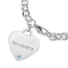 Eternal Heart Birthstone Bracelet Personalized Jewelry