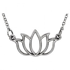 White tiny POSH Lotus Necklace