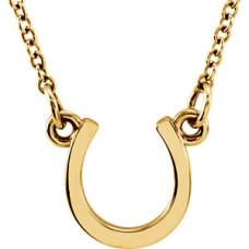 Yellow tiny POSH Horseshoe Necklace