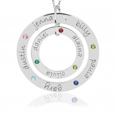 Forever & Wee Birthstone Loop Mommy Necklace