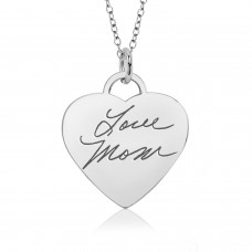 Silver Handwriting Eternal Heart