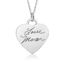 Silver Handwriting Eternal Heart