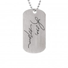 Handwriting Little Dude Dog Tag