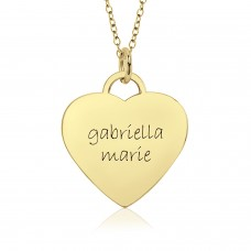 Two Name Vermeil Eternal Heart Mommy Necklace