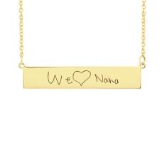 Yellow Handwriting POSH Bar Necklace